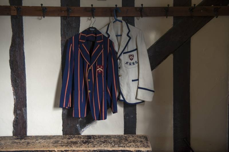 Two older Felsted School uniforms