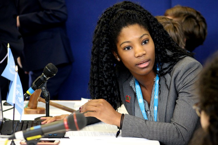Students debate during the Model United Nations event