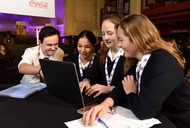 A group of Felsted students at a Work Education event