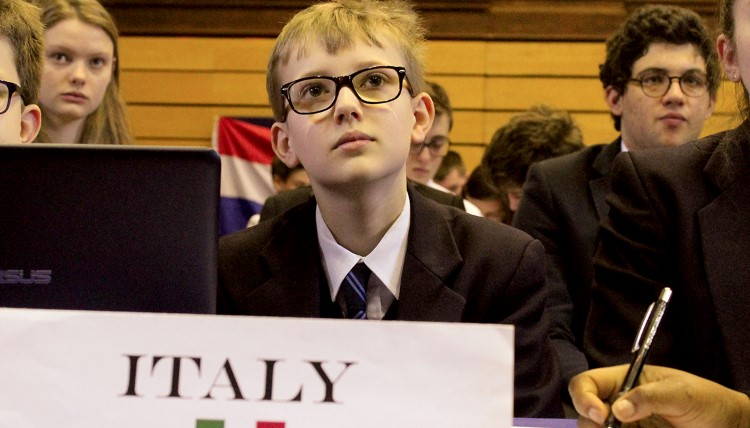 A Felsted Boarding School student participates in the Model United Nations