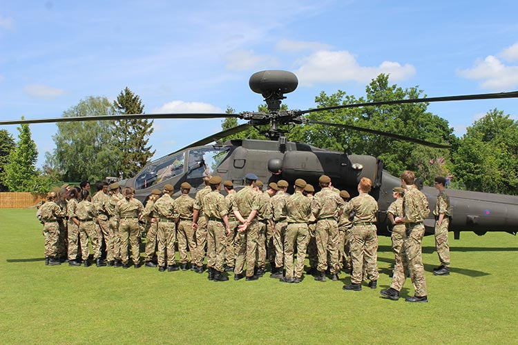 Army Air Corps visit CCF