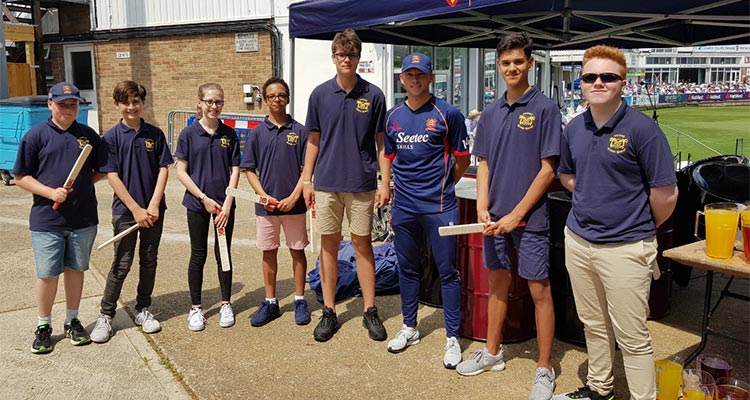 Felsted Steel Band play for Essex Cricket Club
