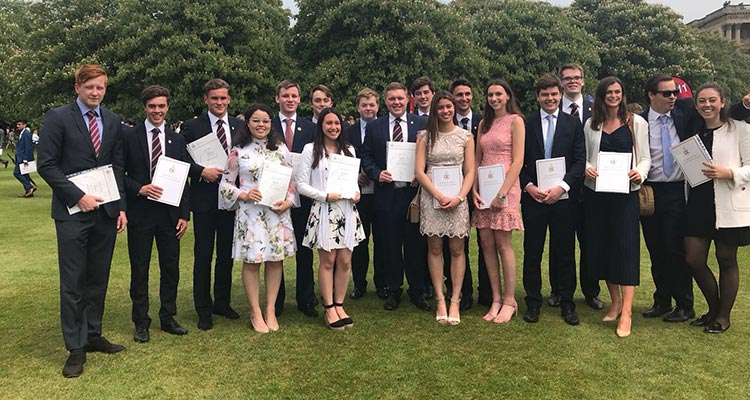 Felsted Pupils Collect Gold DofE Awards at Buckingham Palace